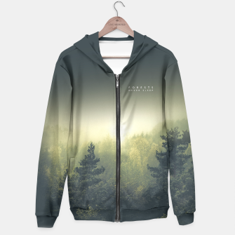 Thumbnail image of Forests never sleep Hoodie, Live Heroes