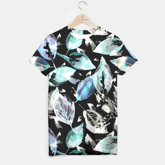 Imagen en miniatura de Blue autumn leaves t-shirt, Live Heroes