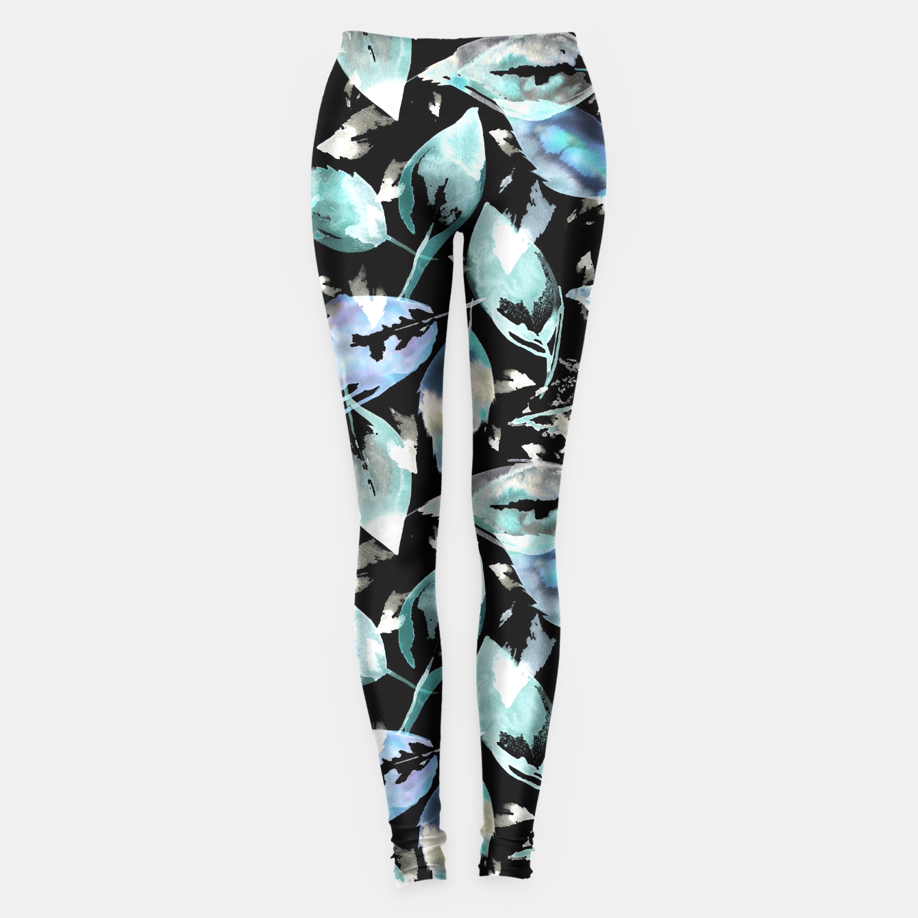 Imagen de Blue autumn leaves leggings  - Live Heroes