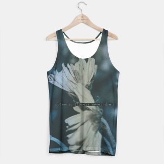 Thumbnail image of Plastic Flowers Tank Top, Live Heroes
