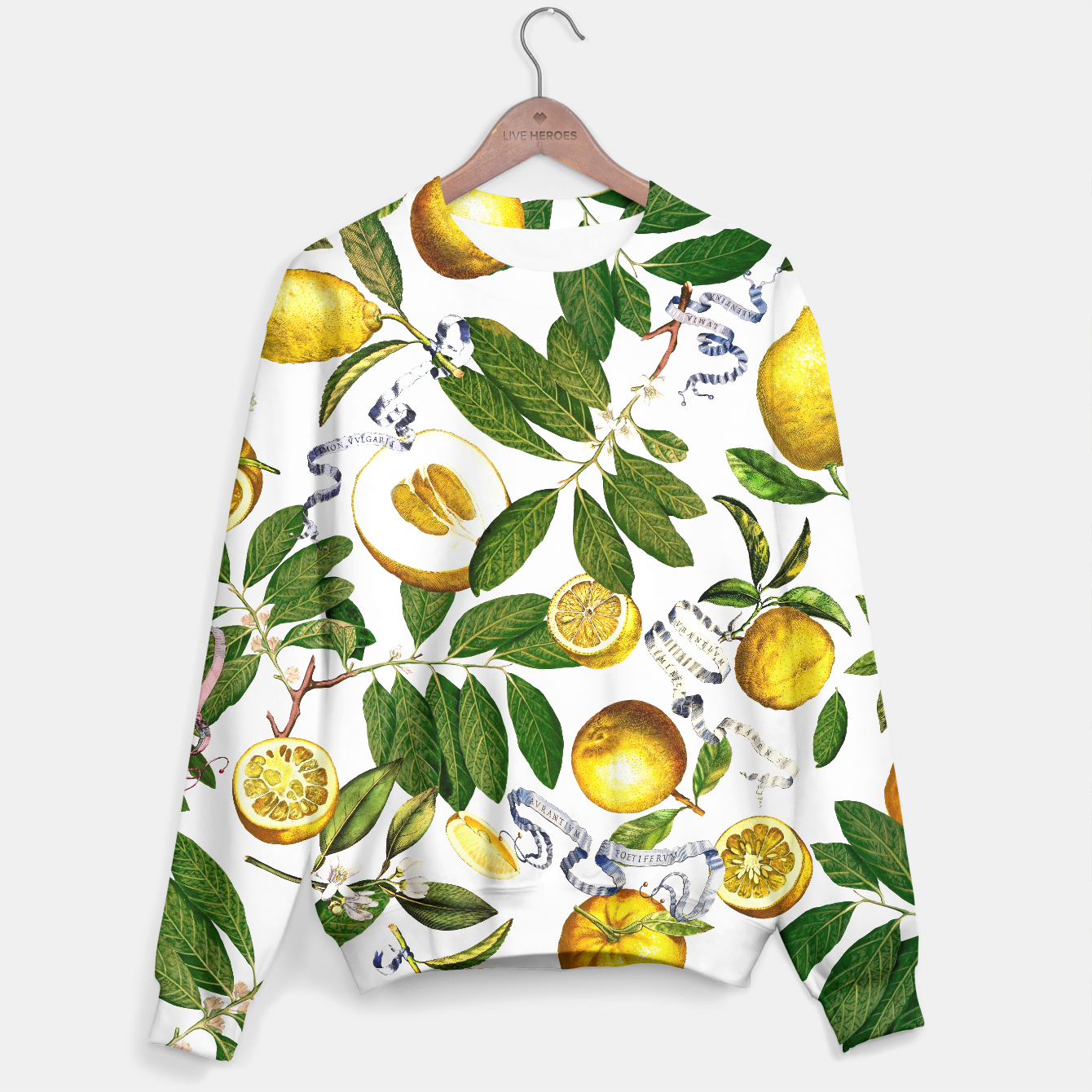 Image of Lemon Tree Sweater white - Live Heroes
