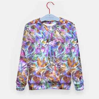 Miniaturka Floral Abstract Stained Glass G268 Kid's Sweater, Live Heroes