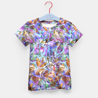 Miniaturka Floral Abstract Stained Glass G268 Kid's T-shirt, Live Heroes