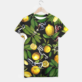 Lemon Tree Tshirt Black thumbnail image