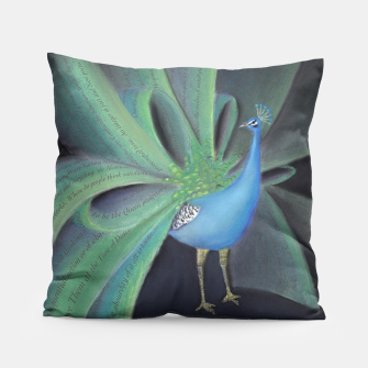 Thumbnail image of Poetic Peacock - Pillow, Live Heroes