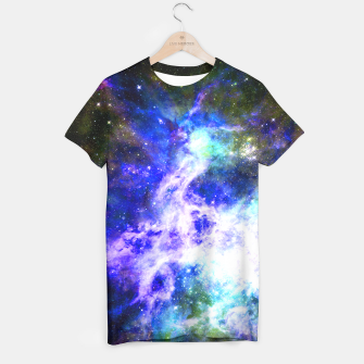 Blue space T-shirt miniature