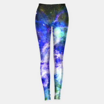 Blue space Leggings miniature