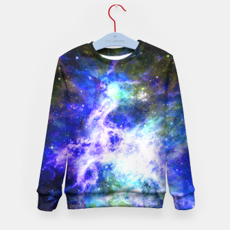 Blue space Kid's Sweater miniature
