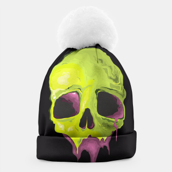 Thumbnail image of Green Skull Beanie, Live Heroes