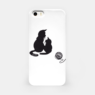 Thumbnail image of Black cats blues iphone case, Live Heroes
