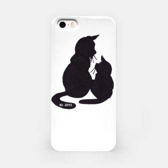 Thumbnail image of Black cats blues 2 iphone case, Live Heroes