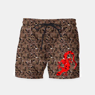 Miniaturka Red Lizard Collage full print swim shorts, Live Heroes
