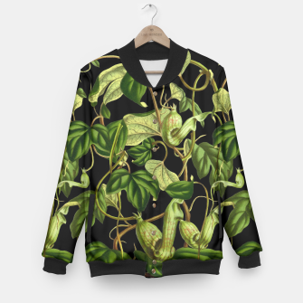 Jungle black Baseball Jacket thumbnail image