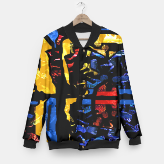Thumbnail image of Collage Baseball Jacket, Live Heroes
