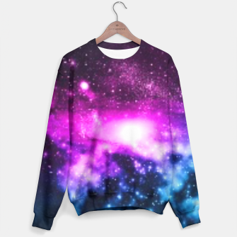 Thumbnail image of Purple n blue Galaxy sweater , Live Heroes