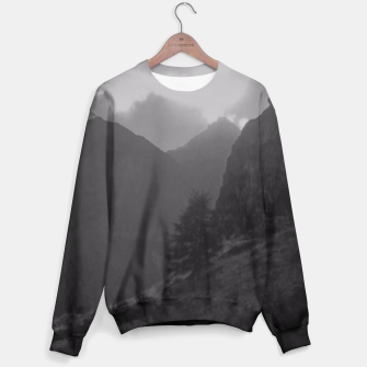 Thumbnail image of Tree and Mountains Sweater, Live Heroes