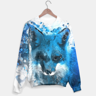 Thumbnail image of Blue Fox sweater, Live Heroes