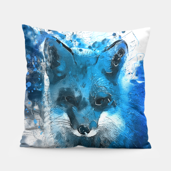 Thumbnail image of Blue Fox  pillow, Live Heroes