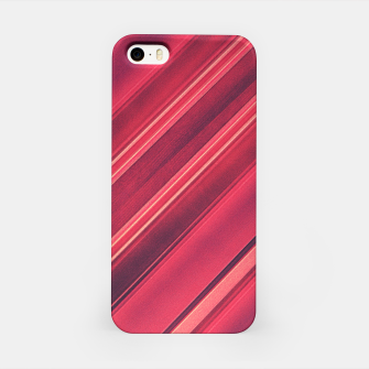 Thumbnail image of Modern Red / Black Stripe Abstract Stream Lines Texture Design  iPhone Case, Live Heroes