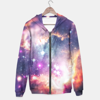The universe under the microscope (space tilt shift art) Hoodie miniature