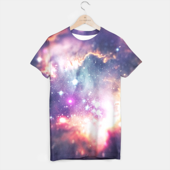 The universe under the microscope (space tilt shift art) T-shirt miniature