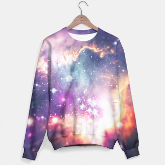 The universe under the microscope (space tilt shift art) Sweater miniature