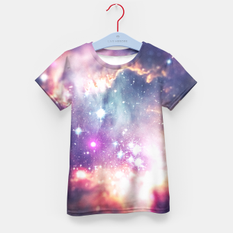 The universe under the microscope (space tilt shift art) Kid's T-shirt miniature