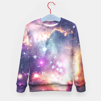 The universe under the microscope (space tilt shift art) Kid's Sweater miniature