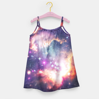 The universe under the microscope (space tilt shift art) Girl's Dress miniature