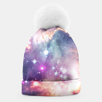 The universe under the microscope (space tilt shift art) Beanie miniature