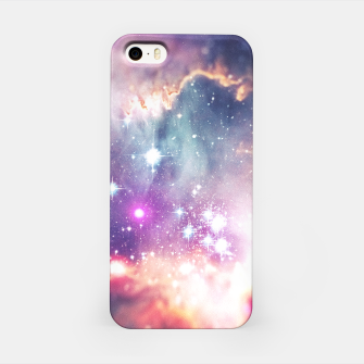 The universe under the microscope (space tilt shift art) iPhone Case miniature