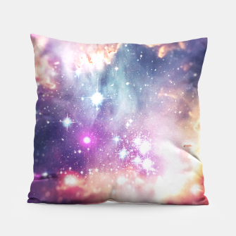 The universe under the microscope (space tilt shift art) Pillow miniature