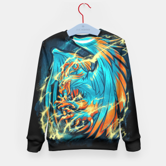 Thumbnail image of BIRD OF THUNDER kid's sweater, Live Heroes