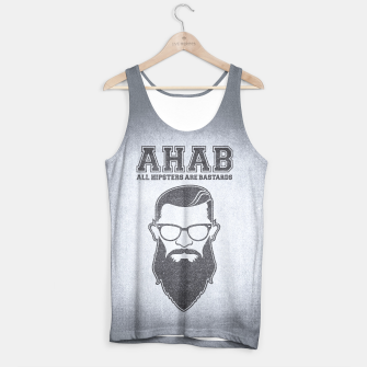 Thumbnail image of ALL HIPSTERS ARE BASTARDS - Funny (A.C.A.B) Parody Tank Top, Live Heroes