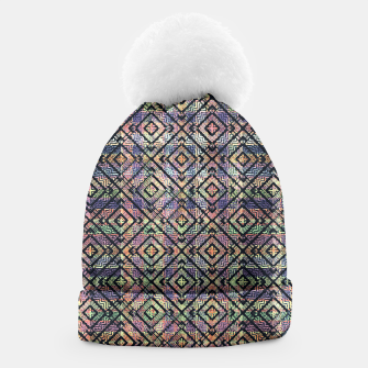 Thumbnail image of Ethnic Check Printed Beanie, Live Heroes