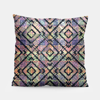 Miniaturka Ethnic Check Printed Pillow, Live Heroes