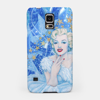 Thumbnail image of Marilyn Monroe, Old Hollywood, portrait, blue colour, Live Heroes
