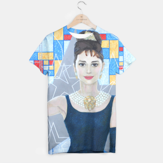 Thumbnail image of Audrey Hepburn, acrylic painting, fine art, Old Hollywood star, Live Heroes