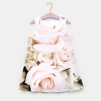 Miniaturka Pastel Roses Girl's Summer Dress, Live Heroes