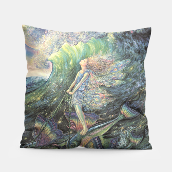 Thumbnail image of Surfer's Dream Throw Pillow, Live Heroes