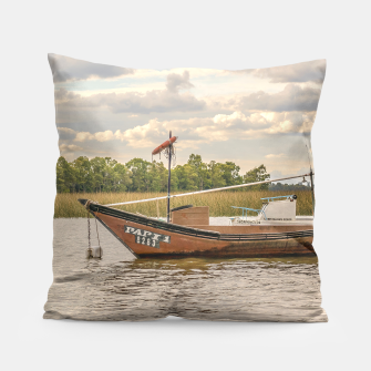 Miniatur Fishing and Sailboats  Pillow, Live Heroes