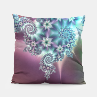 Miniatur Blue and purple flowers pillow, Live Heroes