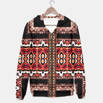Thumbnail image of Check Ornate Printed Hoodie, Live Heroes