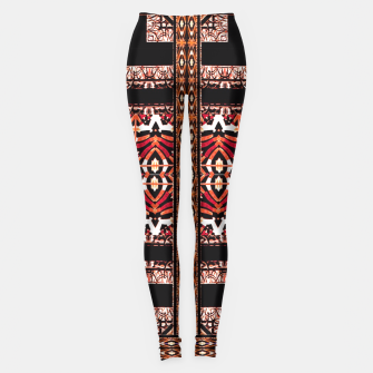 Miniaturka Check Ornate Printed Leggings, Live Heroes