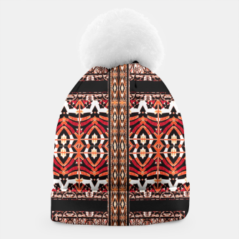 Thumbnail image of Check Ornate Printed Beanie, Live Heroes