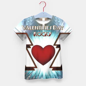 Thumbnail image of Valentines Day Rocks Kids Tee, Live Heroes