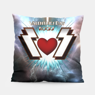 Thumbnail image of Valentines Day Rocks Pillow, Live Heroes