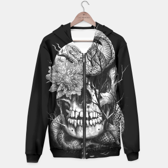 Thumbnail image of Snake and Skull Hoodie, Live Heroes
