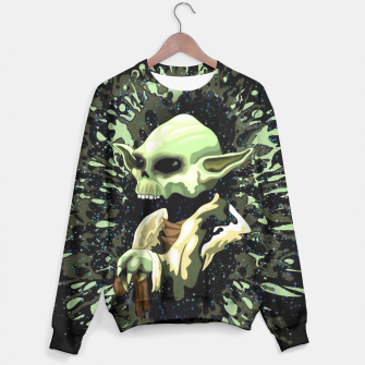 Thumbnail image of Skull Yoda Jedi Master Sweater, Live Heroes