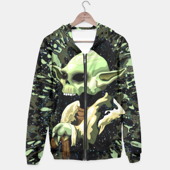 Thumbnail image of Skull Yoda Jedi Master Hoodie, Live Heroes